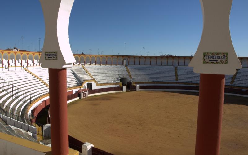 Interior de la plaza de toros de Olivenza