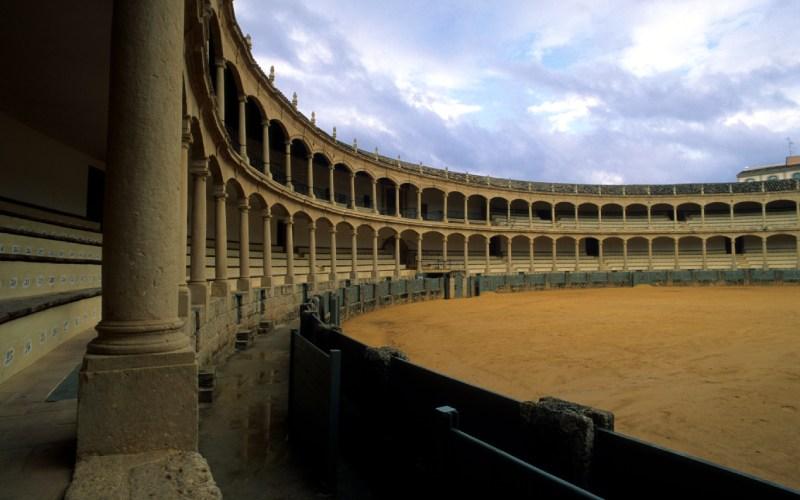 Interior de la plaza de toros de Ronda