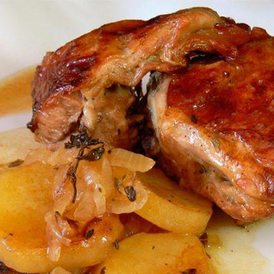 Recipe of roast ternasco with potatoes