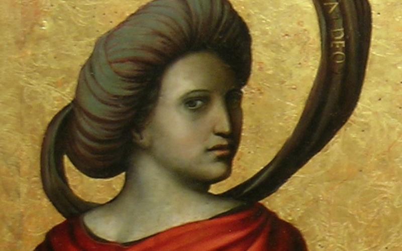 Posible retrato de Luisa de Medrano como Sibila Samia. Del conjunto Profetas y Sibilas de Juan Soreda