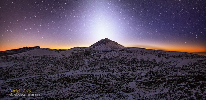 Luz zodiacal ilumina Teide