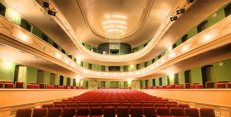 Vista interior al Teatro Principal de Puerto Real
