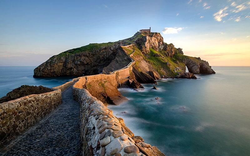 costa de Vizcaya; acantilados de Euskadi