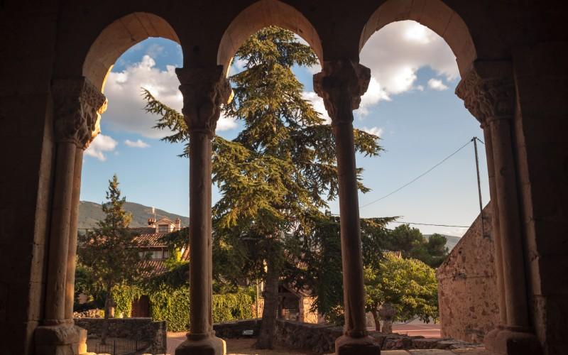 Vistas desde la galería de la iglesia de San Miguel Arcángel en Sotosalbos