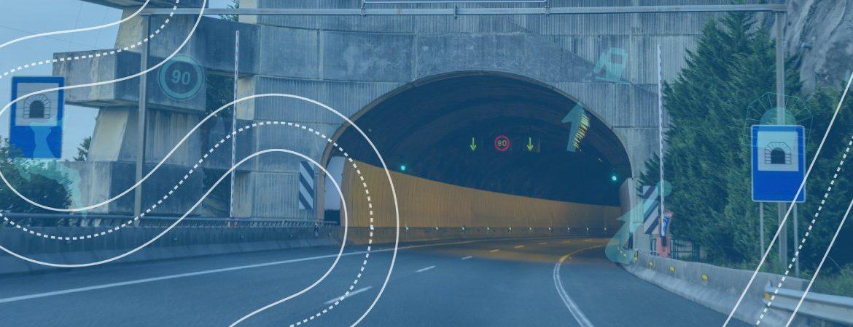 Túnel en la autovía del cantábrico, la A-8
