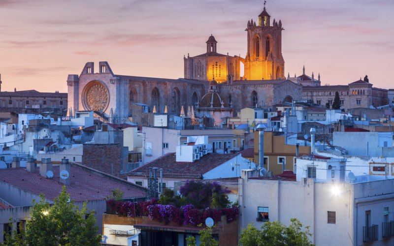 Tarragona, vista general y catedral