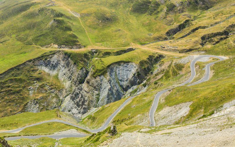 La carretera de Tourmalet en Francia