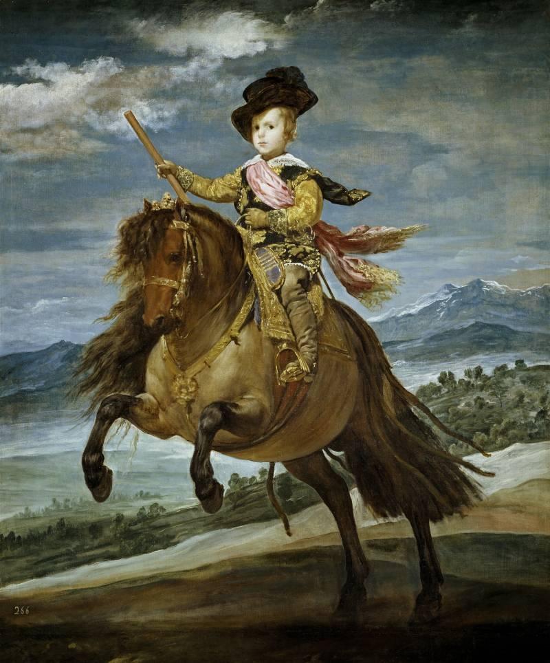 Pintura de 'El príncipe Baltasar Carlos a caballo' de Velázquez