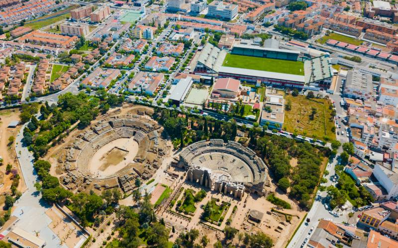 Vista aérea de Mérida