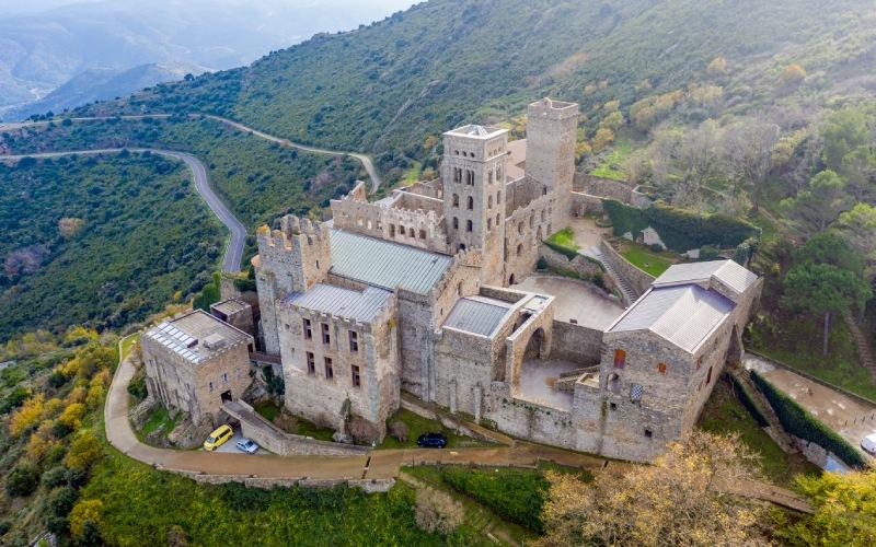 Vista aérea del Monasterio Sant Pere de Rodes