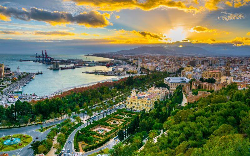 Vista general de Málaga