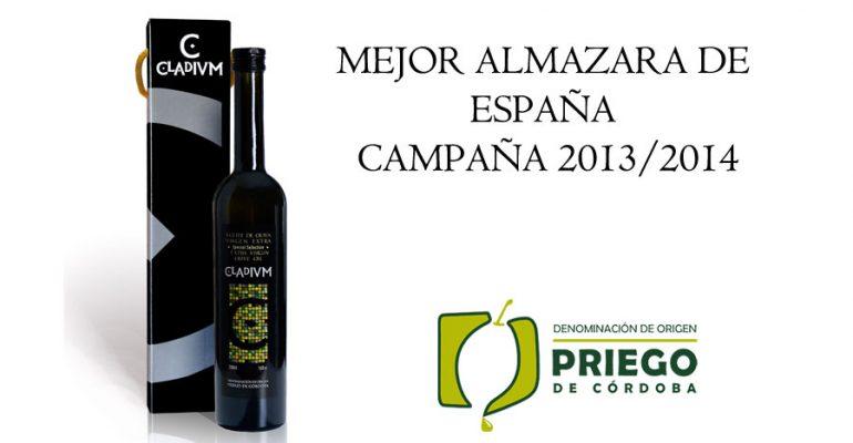 Mejor almazara de España campaña 2013/2014