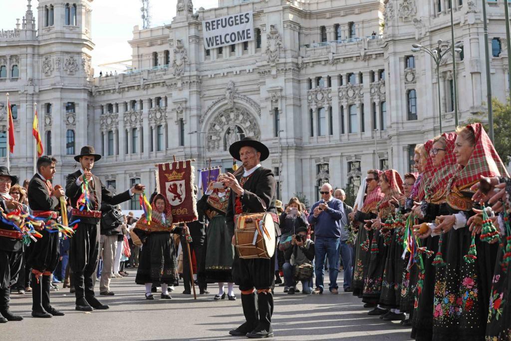Actos festivos durante Fiesta de la Trashumancia en Madrid