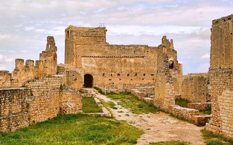 Patio del alcázar de Gormaz