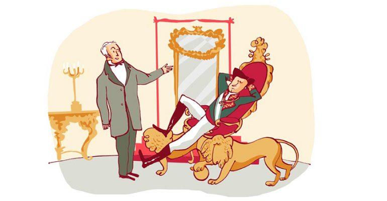 La reprimenda al Rey Alfonso XII