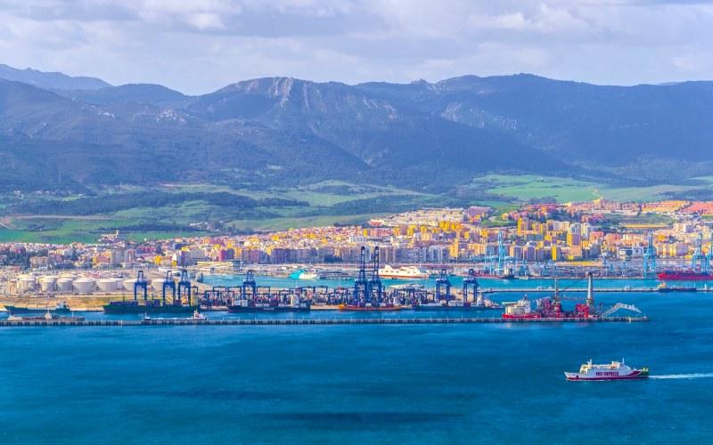 Vista actual de Algeciras y su puerto