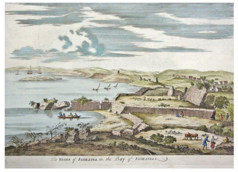 Grabado XVIII ruinas de Algeciras