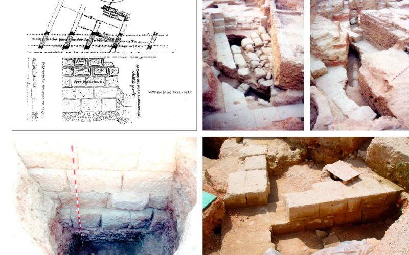 Estructuras exhumadas del anfiteatro