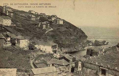 fotografía antigua Puerto de Ortigueira en Coaña, cerca de Navia