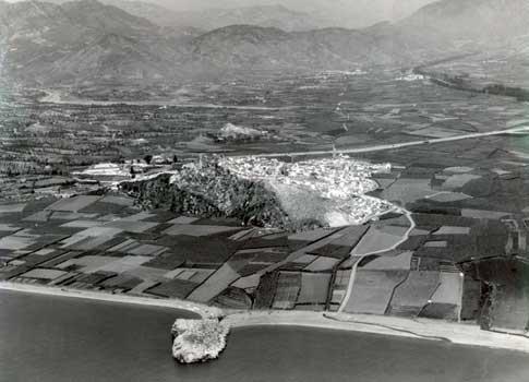 Vista antigua del Peñón de Salobreña