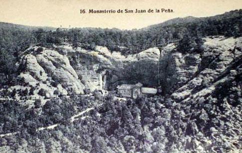 antigua postal monasterio juan pena