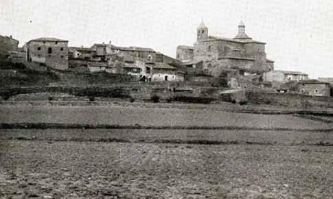 Vista general de Fuendetodos antes de 1936