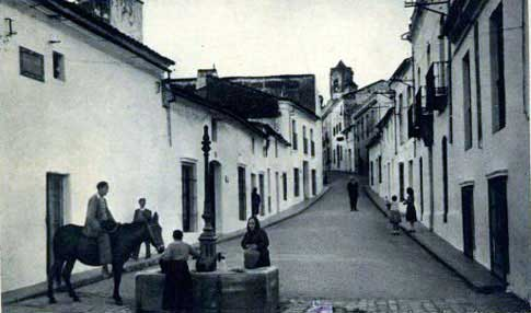 Calle de la Cuesta en Fregenal de la Sierra
