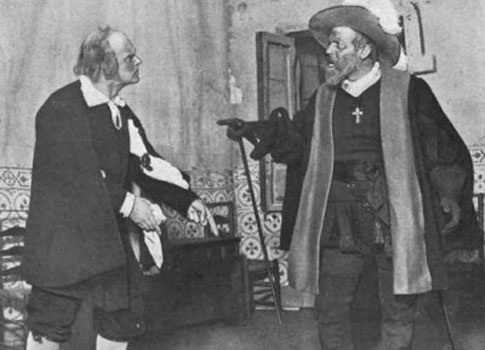 Actores en una representación del Alcalde de Zalamea, en 1909