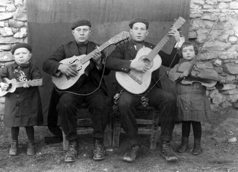 Vecinos de Gallocanta fototografia antigua