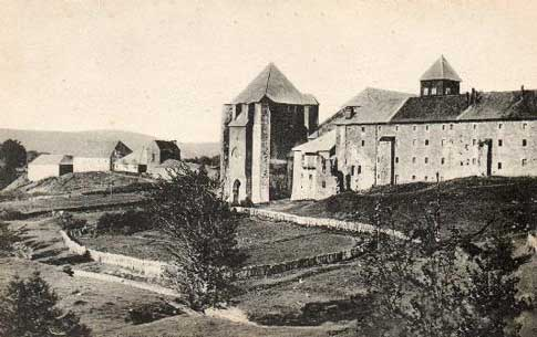 Vista antigua de la Colegiata de Santa María de Roncesvalles