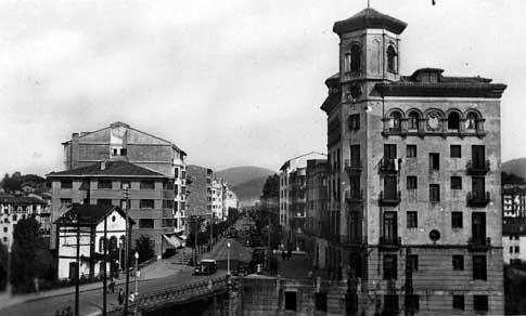 fotografia antigua Calle de San Francisco en Irún