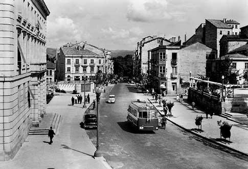 Centro de Ourense en el pasado