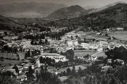 Vista antigua de Cangas de Onís