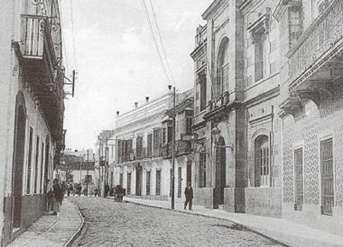Antigua imagen de la calle Convento de Algeciras