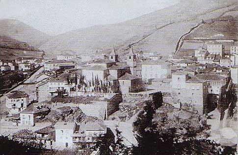 Vista de Cangas del Narcea en 1889