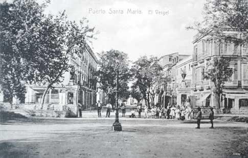 Imagen antigua del paseo del Vergel del Conde en El puerto de Santa María