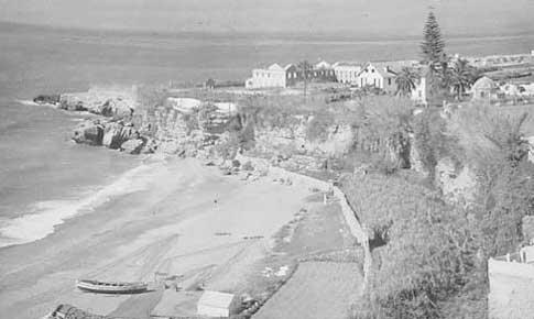 Antigua fotografía de la playa de Nerja
