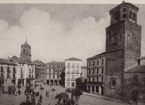 Vista antigua de la Plaza de Andalucía en Úbeda