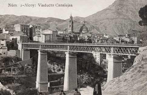 antigua foto viaducto alcoy