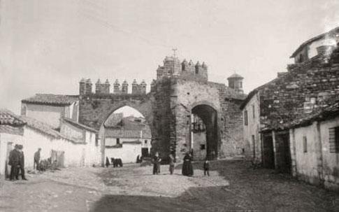 Arco de Villalar en Baeza fotografía antigua