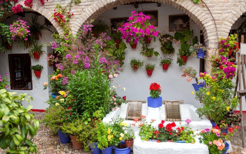 Arquitectura tradicional de los patios de Córdoba