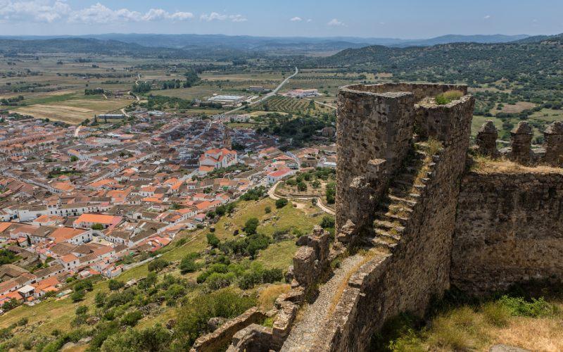 Vistas desde el castillo de Burguillos del Cerro