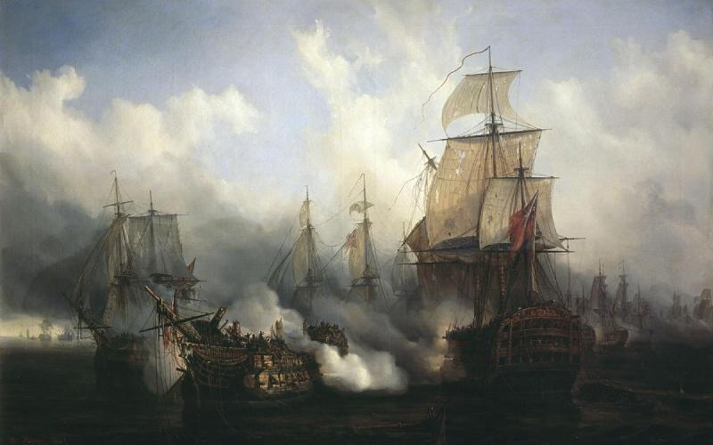 Lienzo de la Batalla de Trafalgar