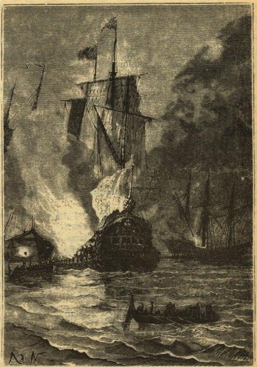 Batalla de Rande en 20.000 Leguas de Viaje Submarino