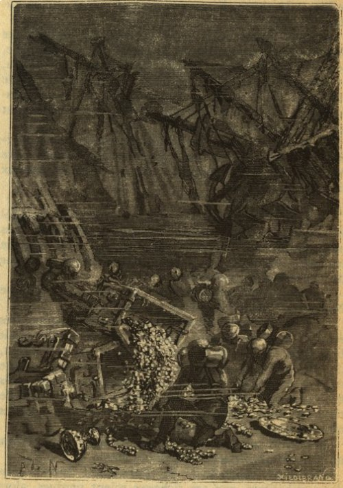 El pecio en 20.000 Leguas de Viaje Submarino