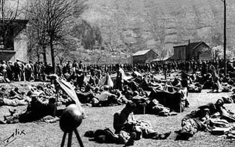 Combatientes de la 43 División en Bielsa durante la Guerra Civil