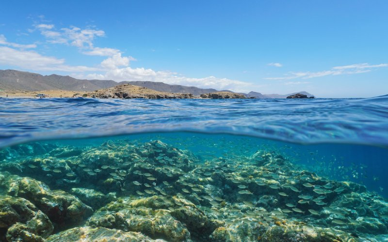 Costa en el Cabo de Gata geoparque
