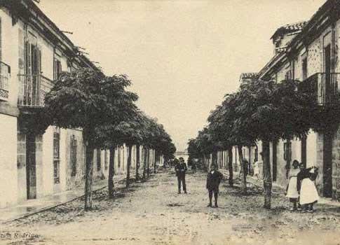 Imagen antigua de la Calle de San Roque de Sigüenza