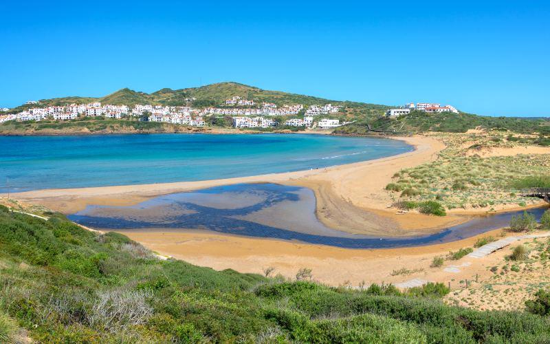 Panorámica de Cala Tirant Menorca