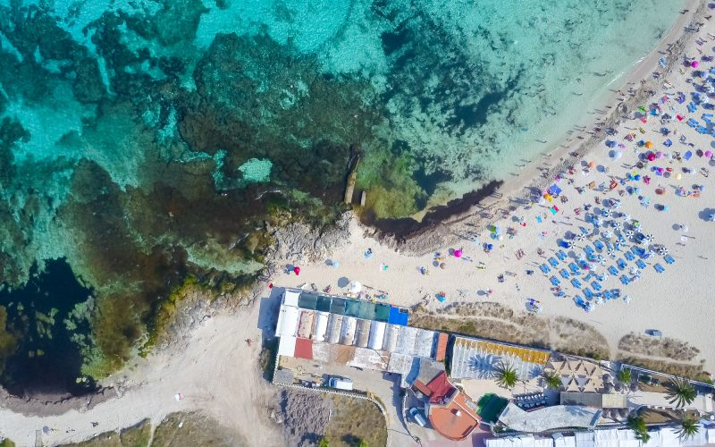 Vista aérea de Punta Prima Menorca